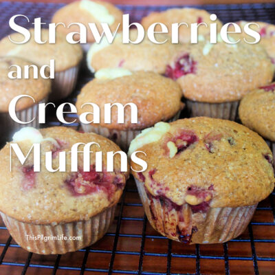 Strawberry Muffins with Sweet Cream Surprise