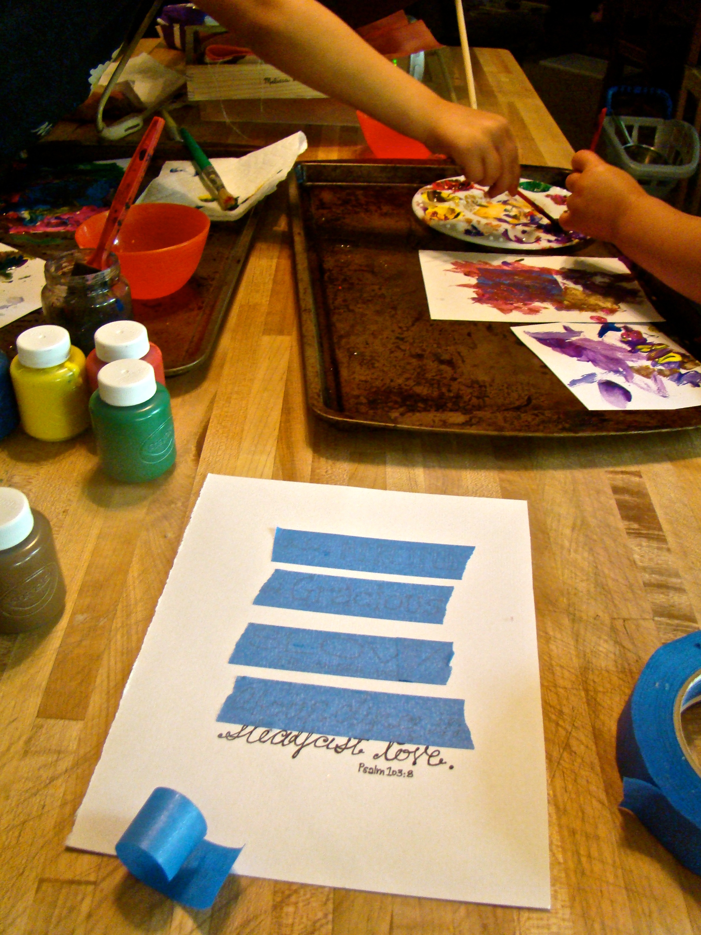 Scripture Painting Activity for Young Children