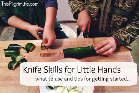 Teaching kids knife safety--what to use and tips for getting started
