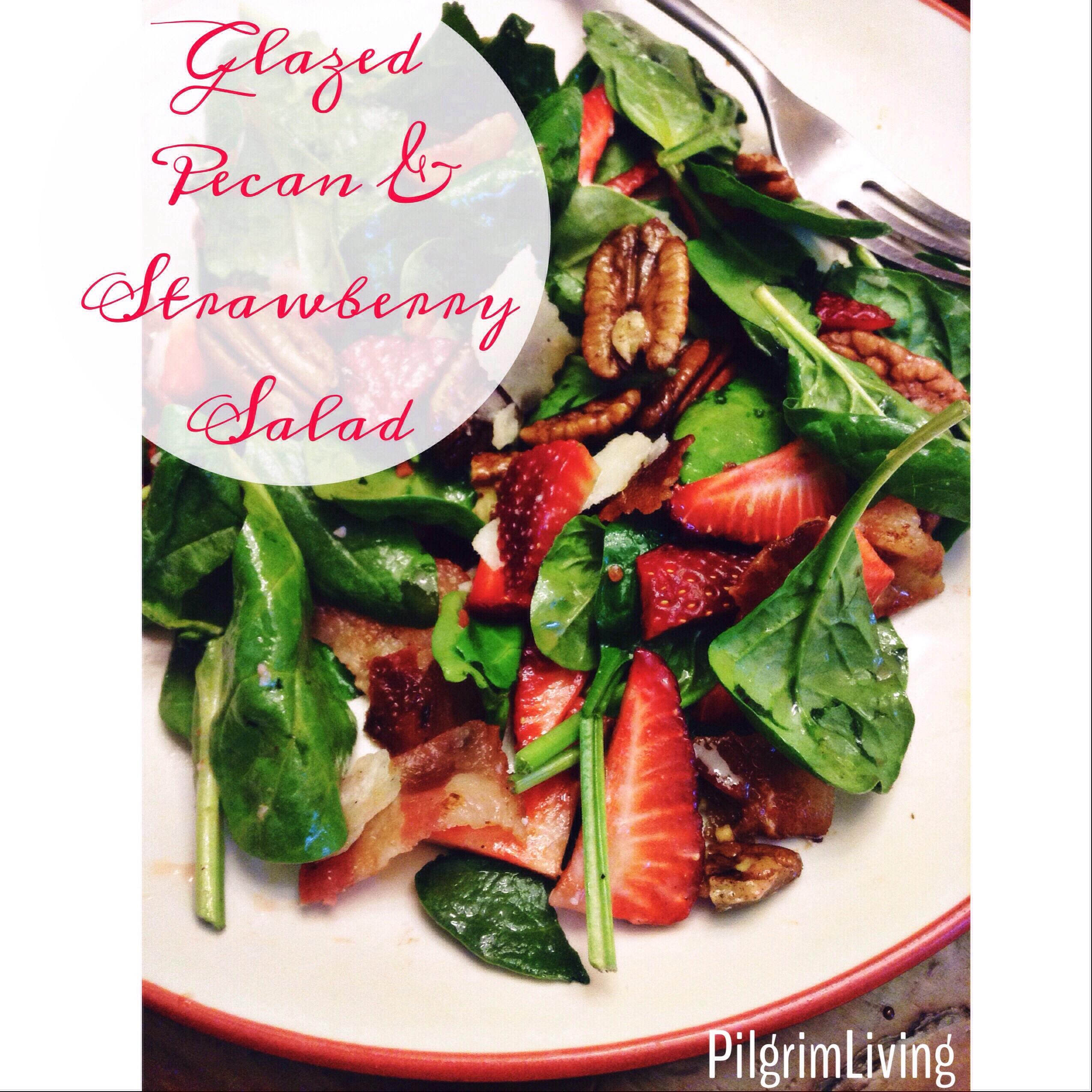 Glazed Pecan & Strawberry Salad