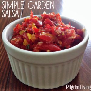 simple garden salsa