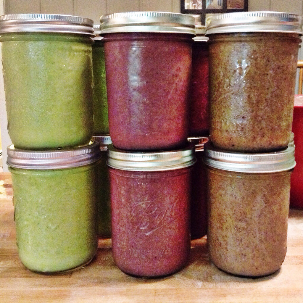 smoothies ready to take on a week-long camping trip