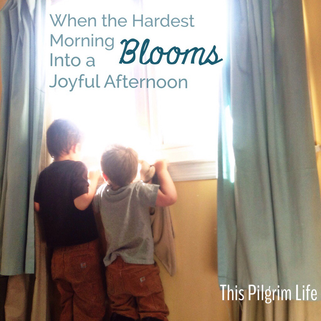 When the hardest morning blooms into a joyful afternoon