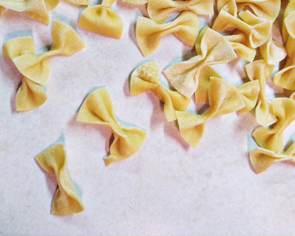 fresh bowtie pasta