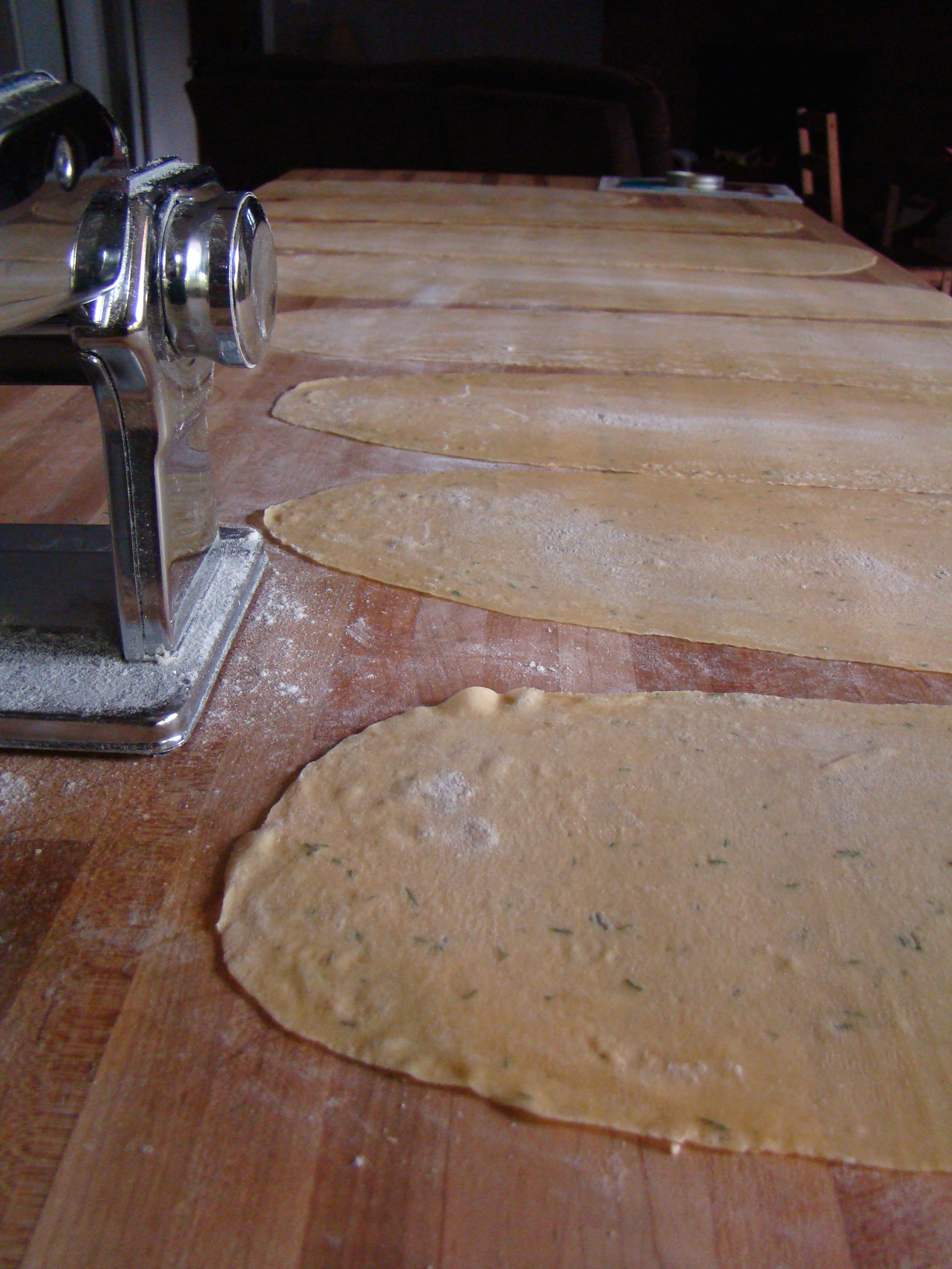 pasta noodles drying