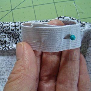 sew the elastic closed