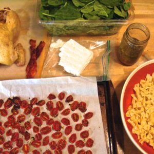 roasted chicken and tomato pasta salad