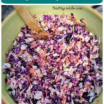 Coleslaw is a summer staple at cookouts and potlucks. This rainbow coleslaw is a fresh take on a common recipe-- the perfect combination of tangy, crisp and sweet!