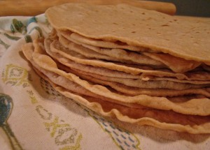 homemade soft whole wheat tortillas