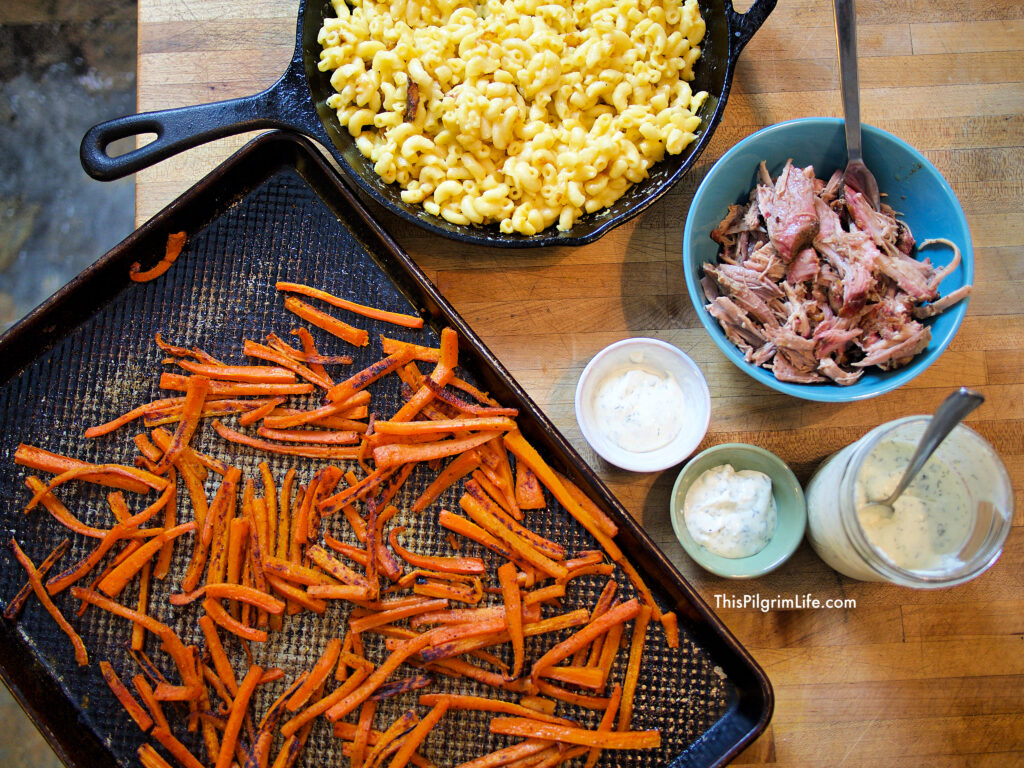 Roasted carrot fries are one of our FAVORITE veggie sides! They are so easy to make, and we can never seem to have enough because they're so tasty too. Budget-friendly, kid-friendly, and healthy-- you definitely need to try them soon!