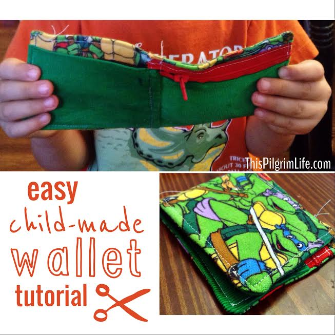 Child-Made Wallet Tutorial