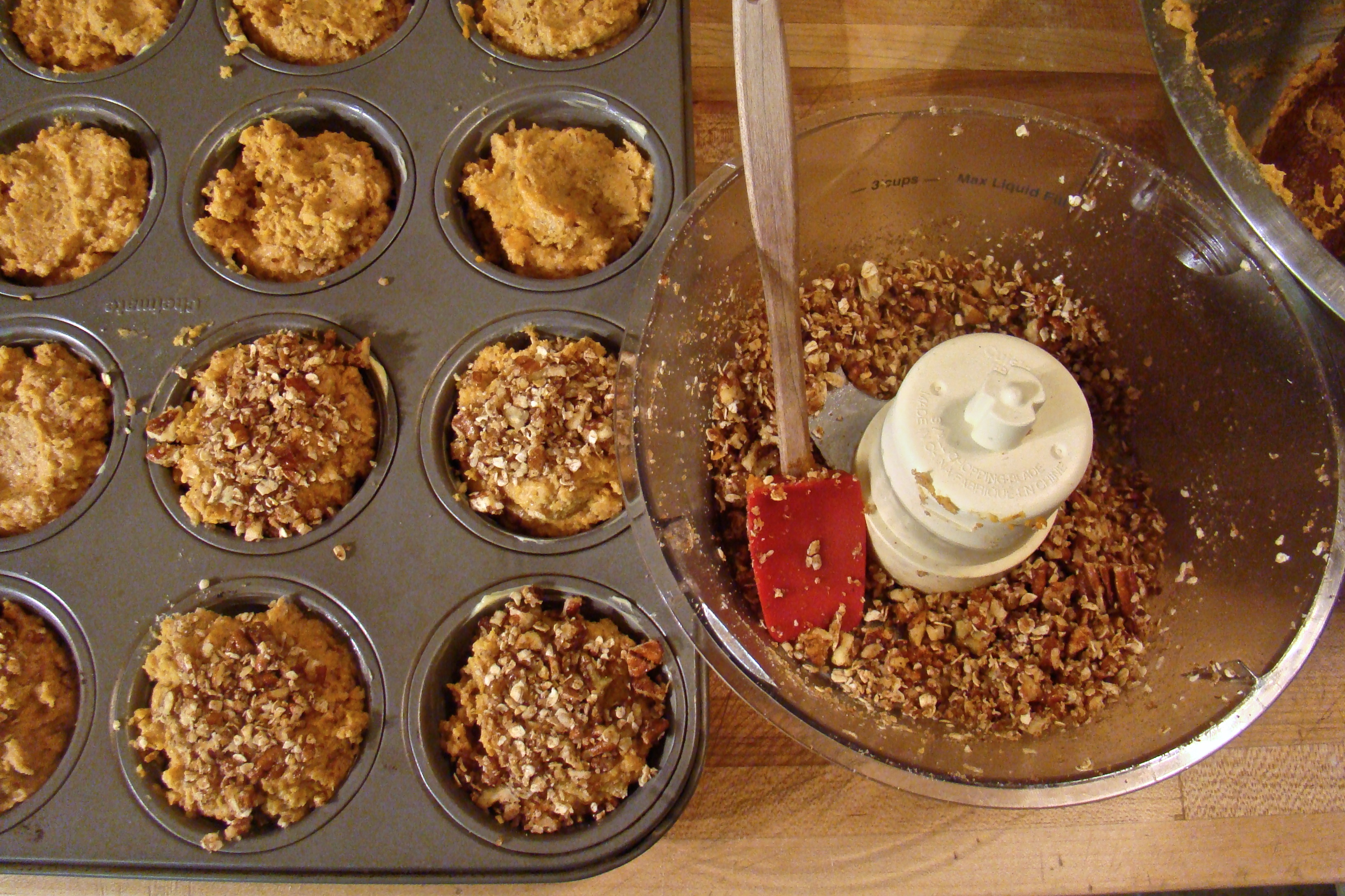 Pumpkin Pecan Brown Butter Muffins