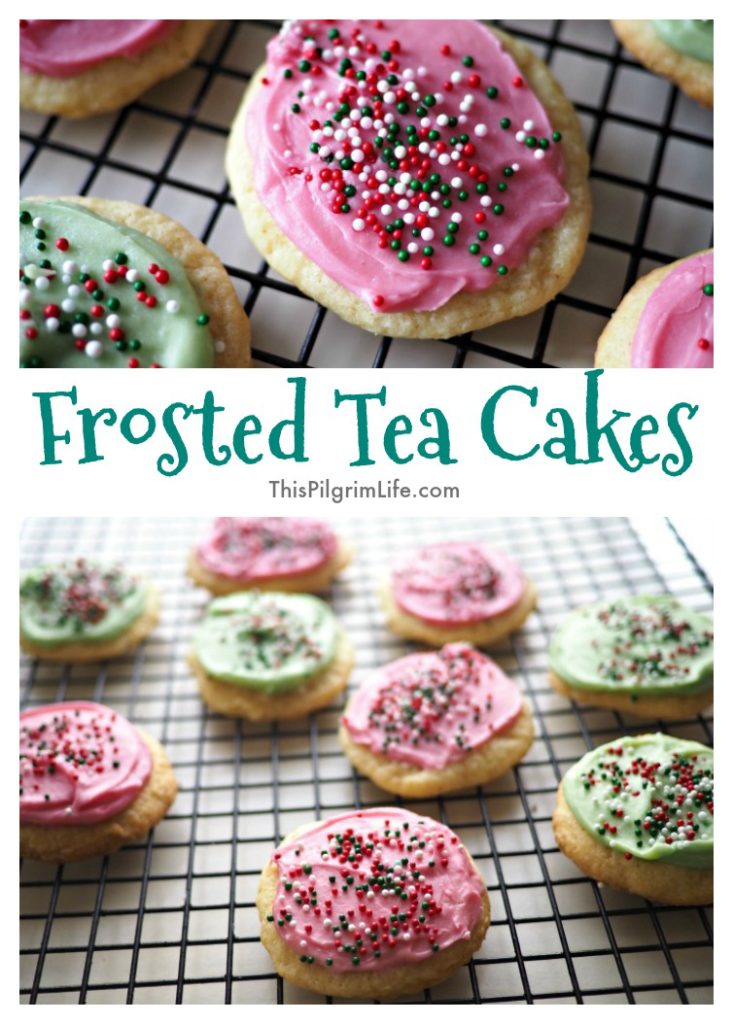 These frosted tea cakes are so simple to whip together in a stand mixer and such fun cookies to decorate together as family! You'll be amazed at how tasty these soft cookies are, topped with a sweet cream cheese icing. Make a batch to eat and a batch to share with friends!