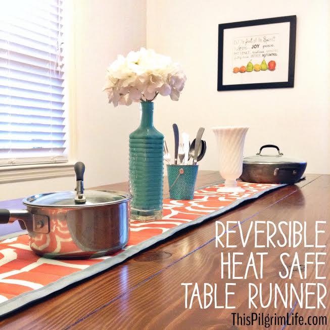 Reversible Heat Safe Table Runner