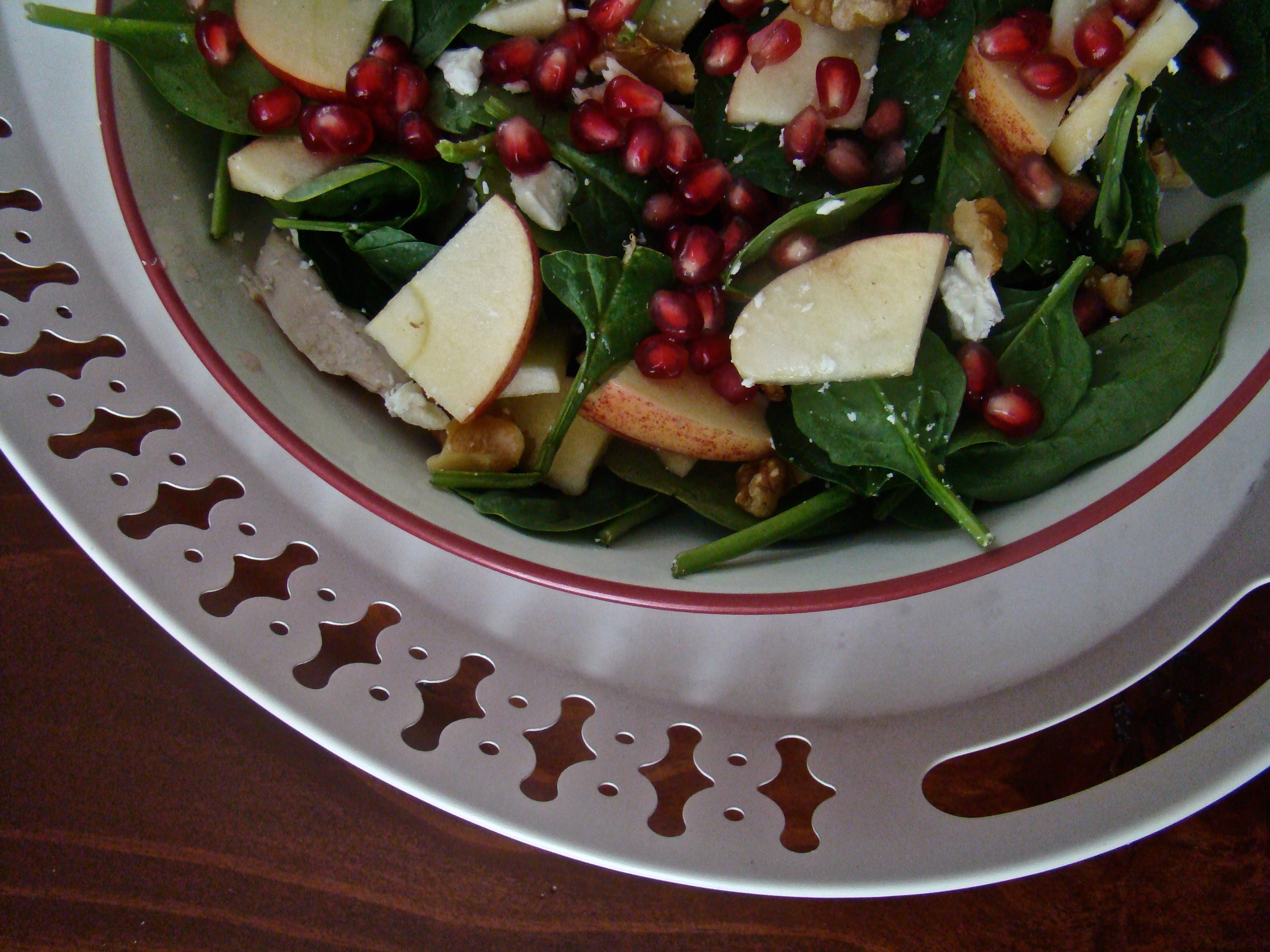 Pomegranate Salad with Cinnamon Maple Vinaigrette