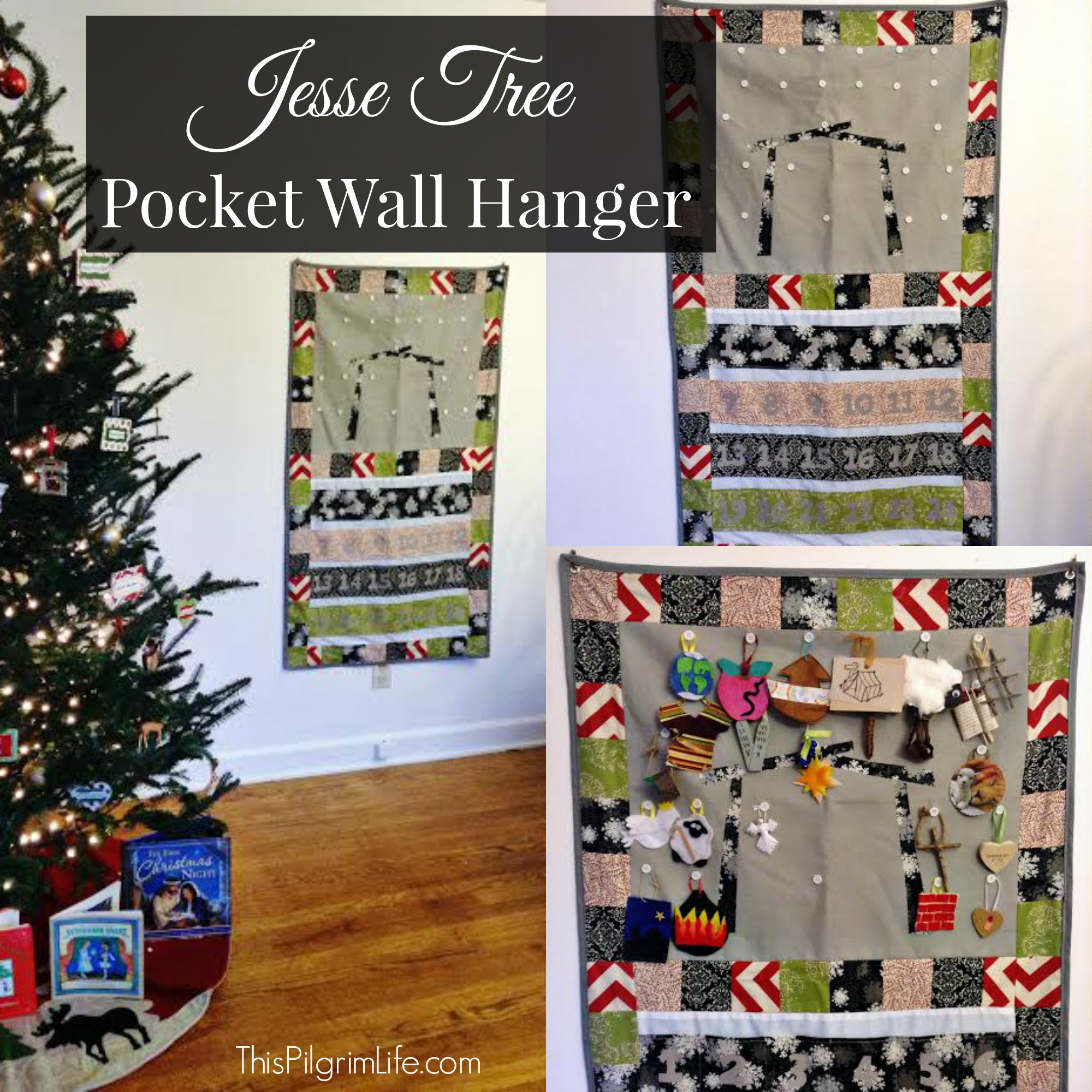 Jesse Tree Pocket Wall Hanger