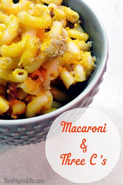 Making The Classics Healthier: Macaroni and Three C's