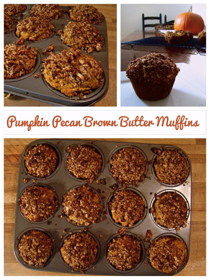 Pumpkin Pecan Brown Butter Muffins