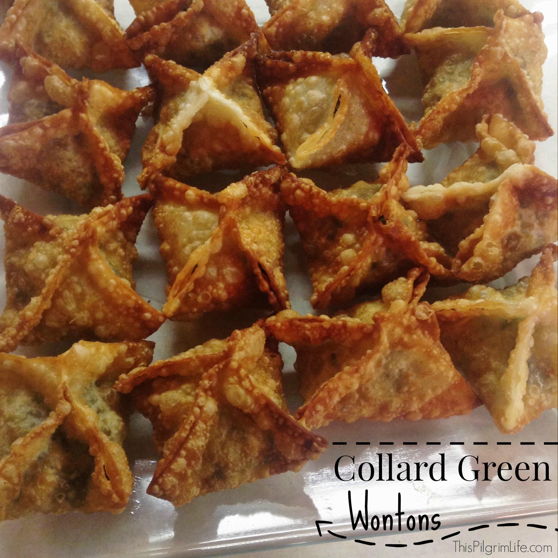 Collard Green Wontons