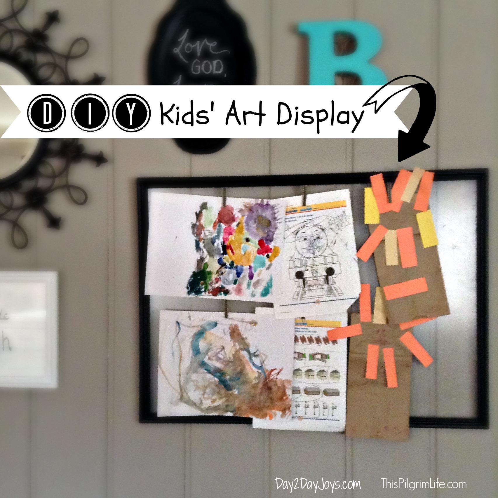 DIY Kids' Art Display