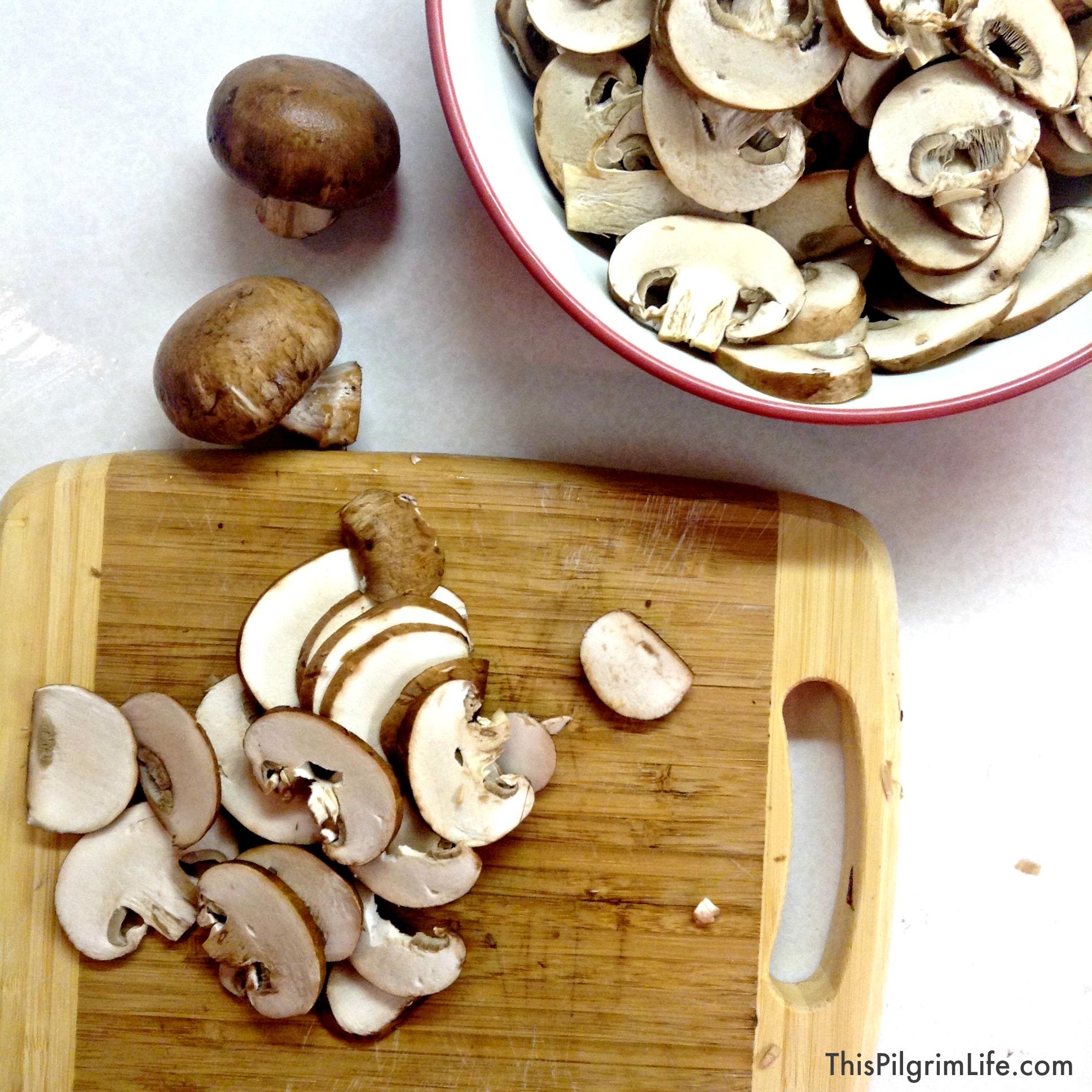 White Wine Creamy Mushroom Sauce