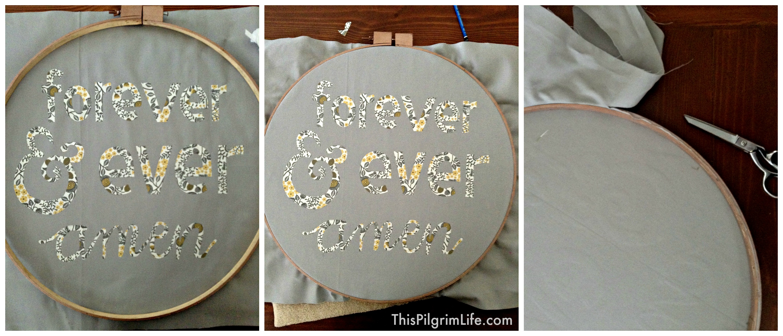 Easy Hoop Art Tutorial