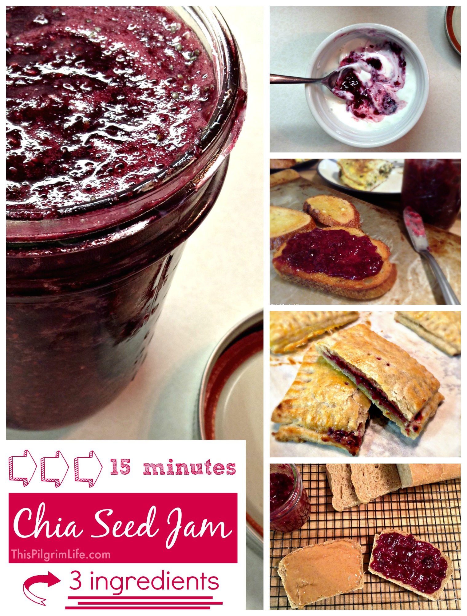 Chia Seed Jam-- Healthy and delicious jam in fifteen minutes!