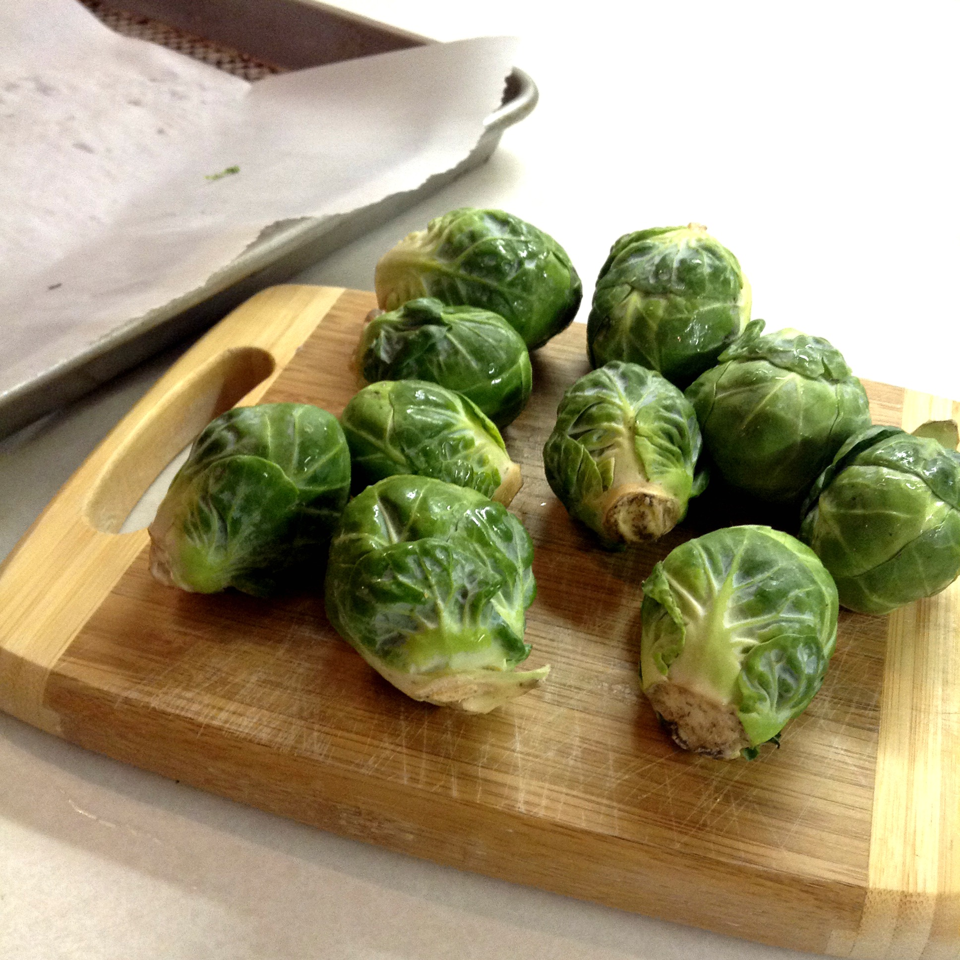 Simple Roasted Brussels Sprouts- an easy and delicious way to prepare Brussels sprouts in just twenty minutes.