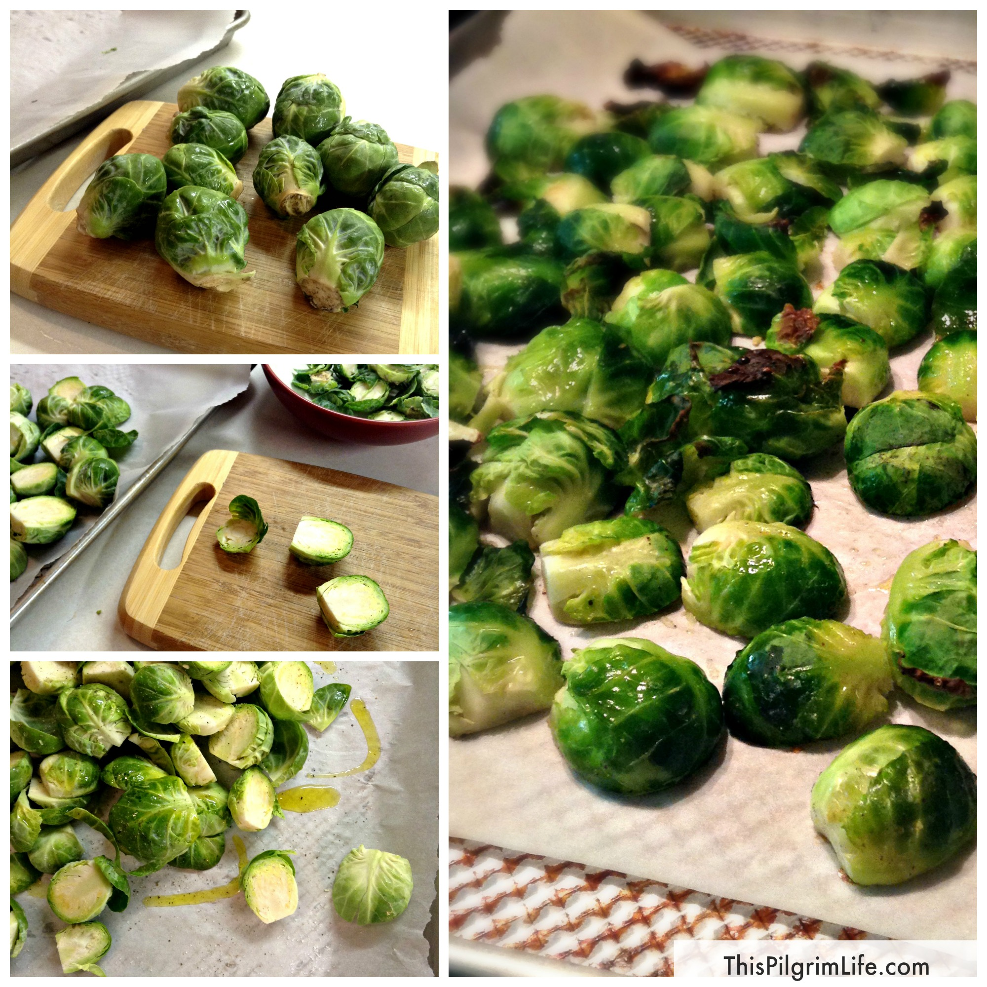 Simple Roasted Brussels Sprouts- an easy and delicious way to prepare Brussels sprouts in twenty minutes or less, perfect for weeknight meals!