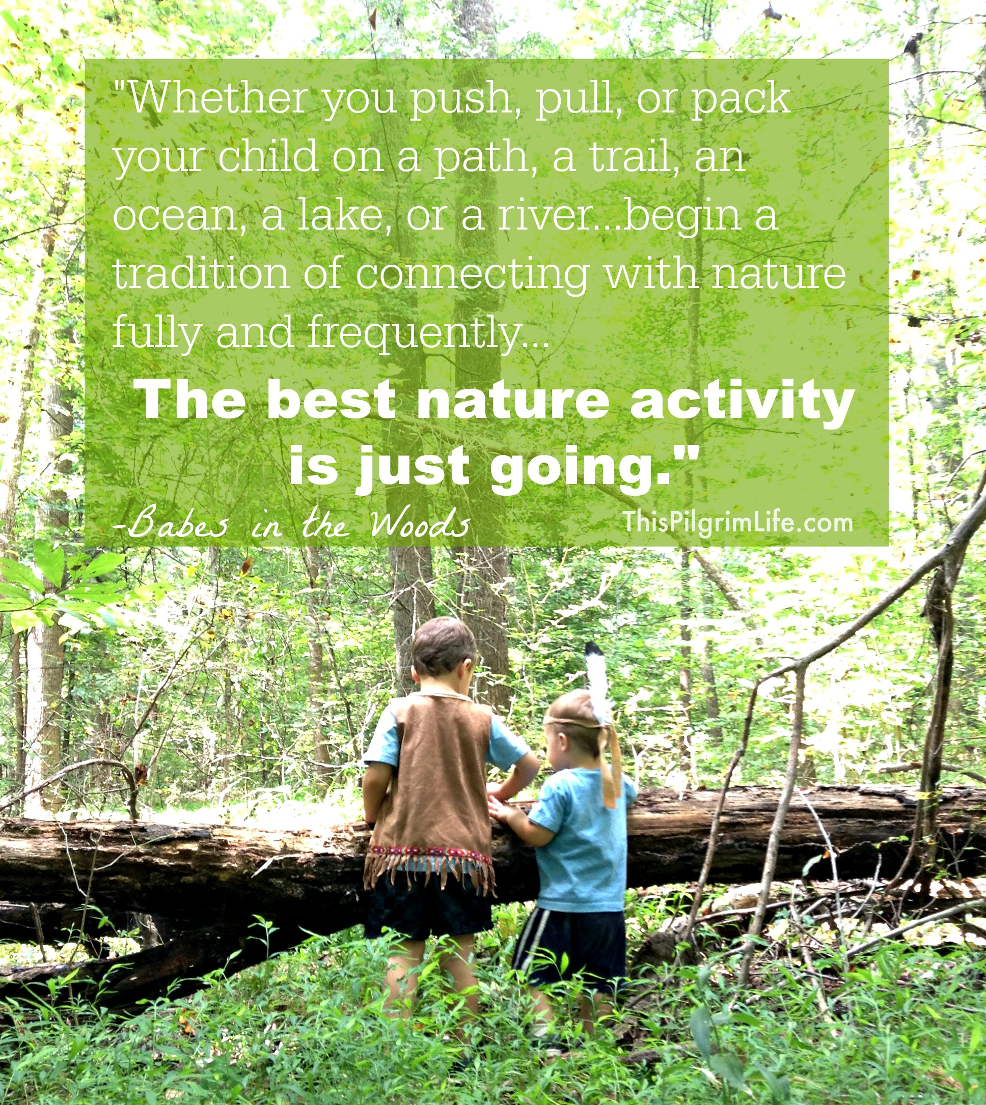 """The best nature activity is just going."""