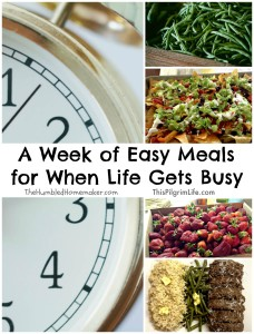 A Week of Easy Meals