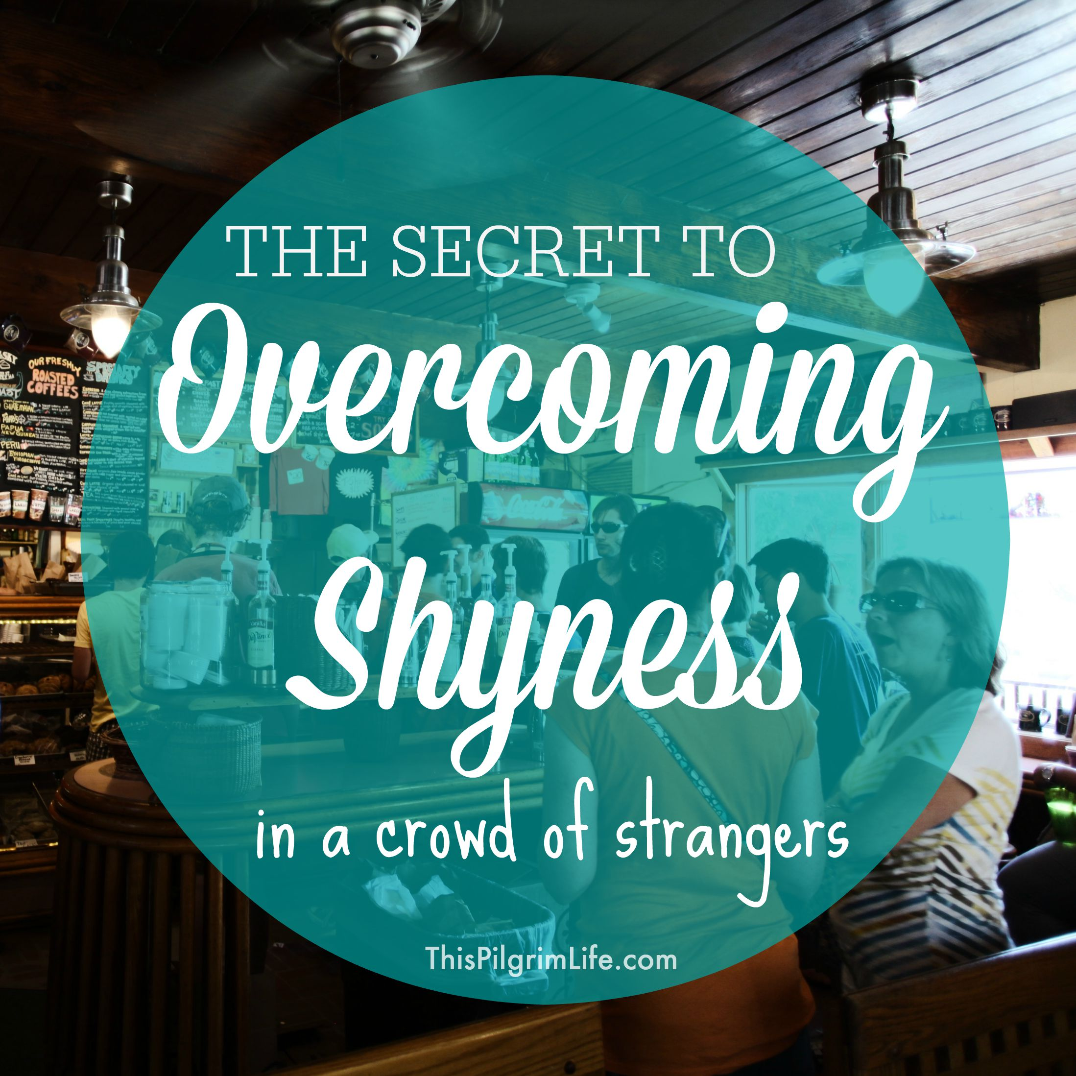 I used to hide in the bathroom to avoid mingling with people I didn't know, but I've since learned how to overcome shyness when in a crowd of strangers.