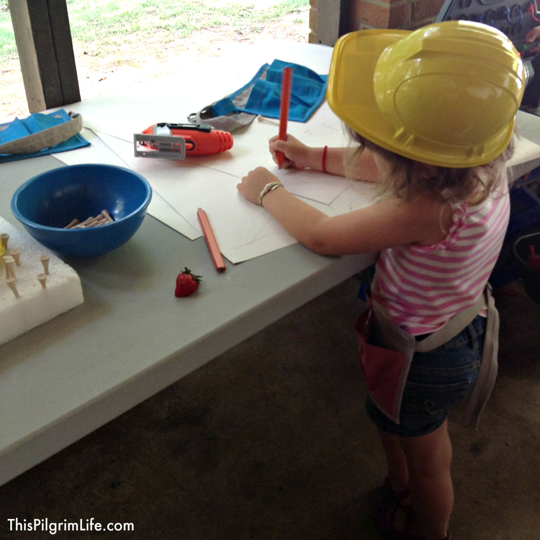 Such a fun party for any kid who loves tools and building! Hard hats, tool belts, and lots of fun activities!
