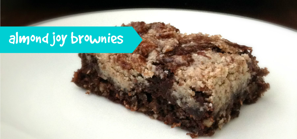 Almond Joy Brownies-soliloquy