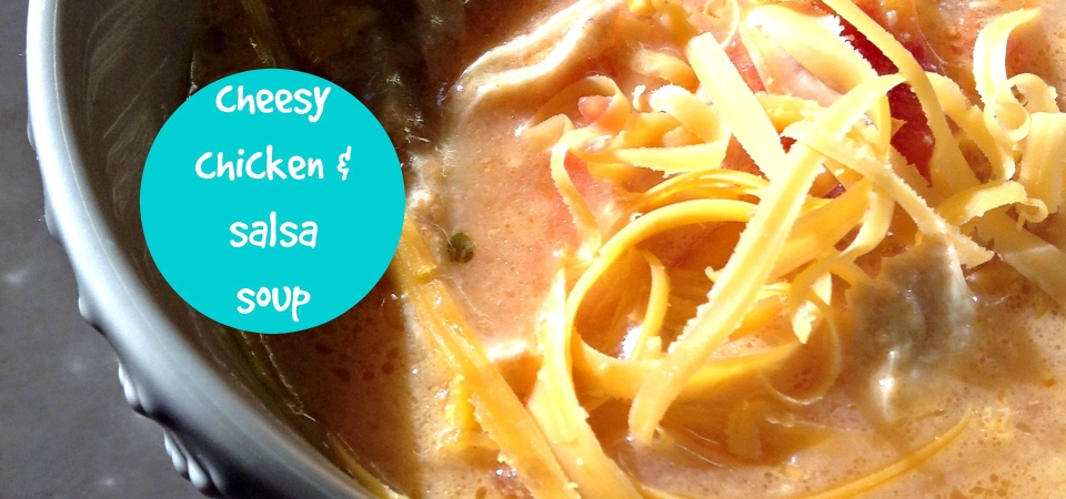 Cheesy Chicken & Salsa Soup-soliloquy