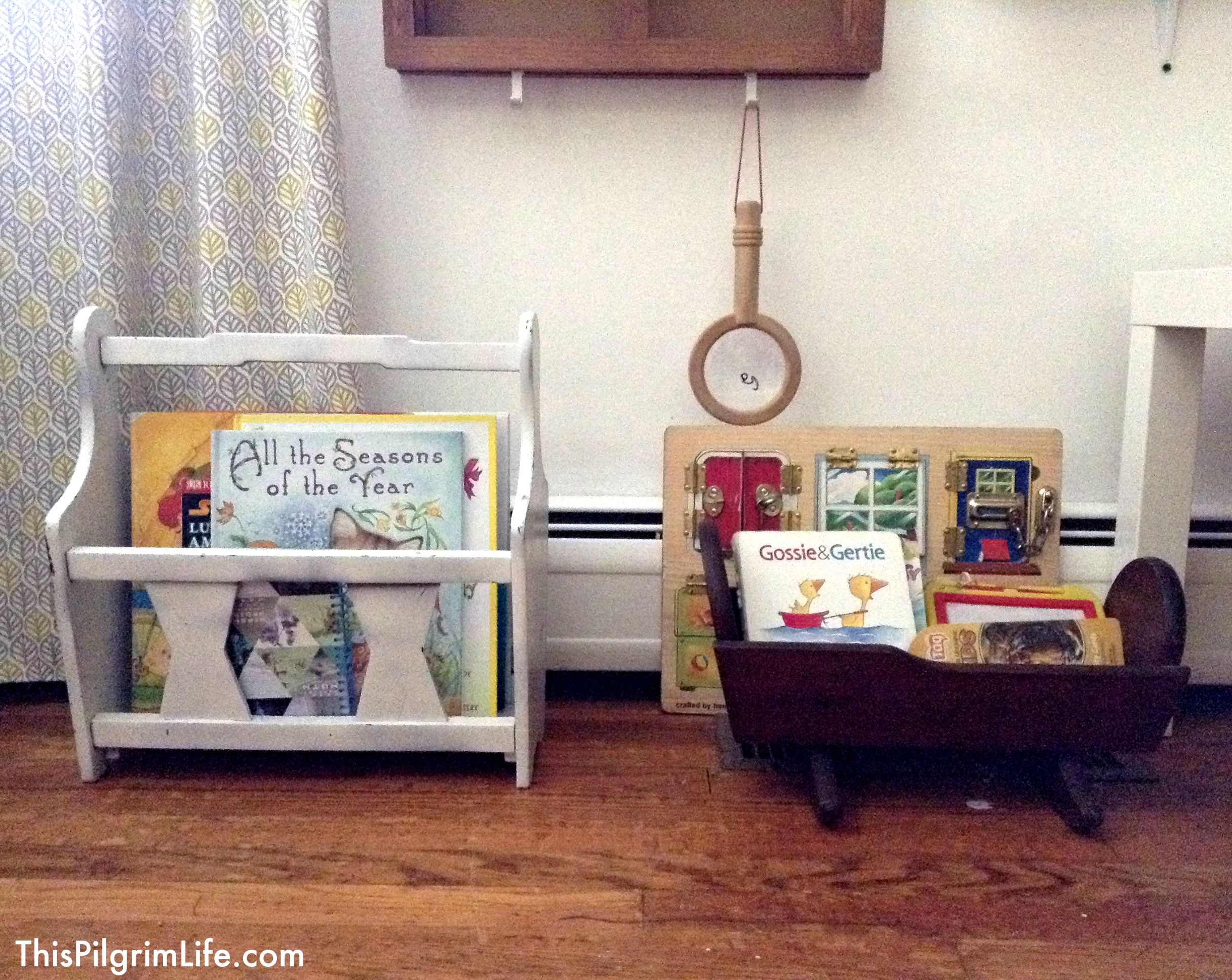 Cutest little homeschool nook in the dining room!