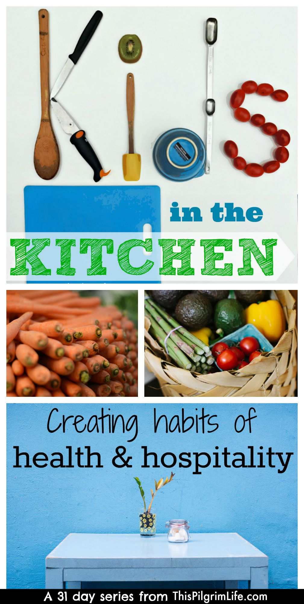 Bring kids into the kitchen is so much more than baking cookies! It's learning, relationship building, and a great way to create habits of health and hospitality in your kids!