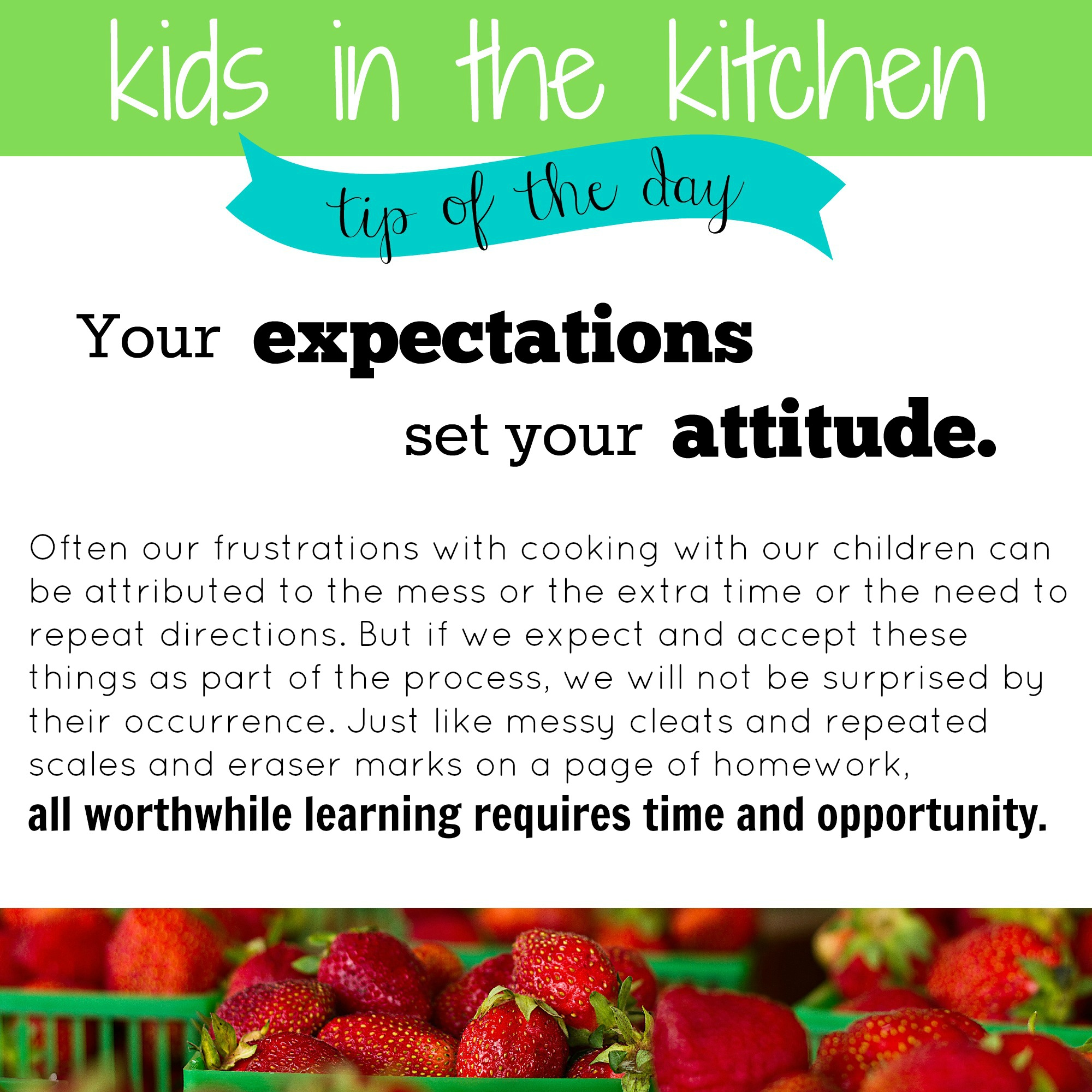 Kids in the Kitchen: Tip of the Day 1