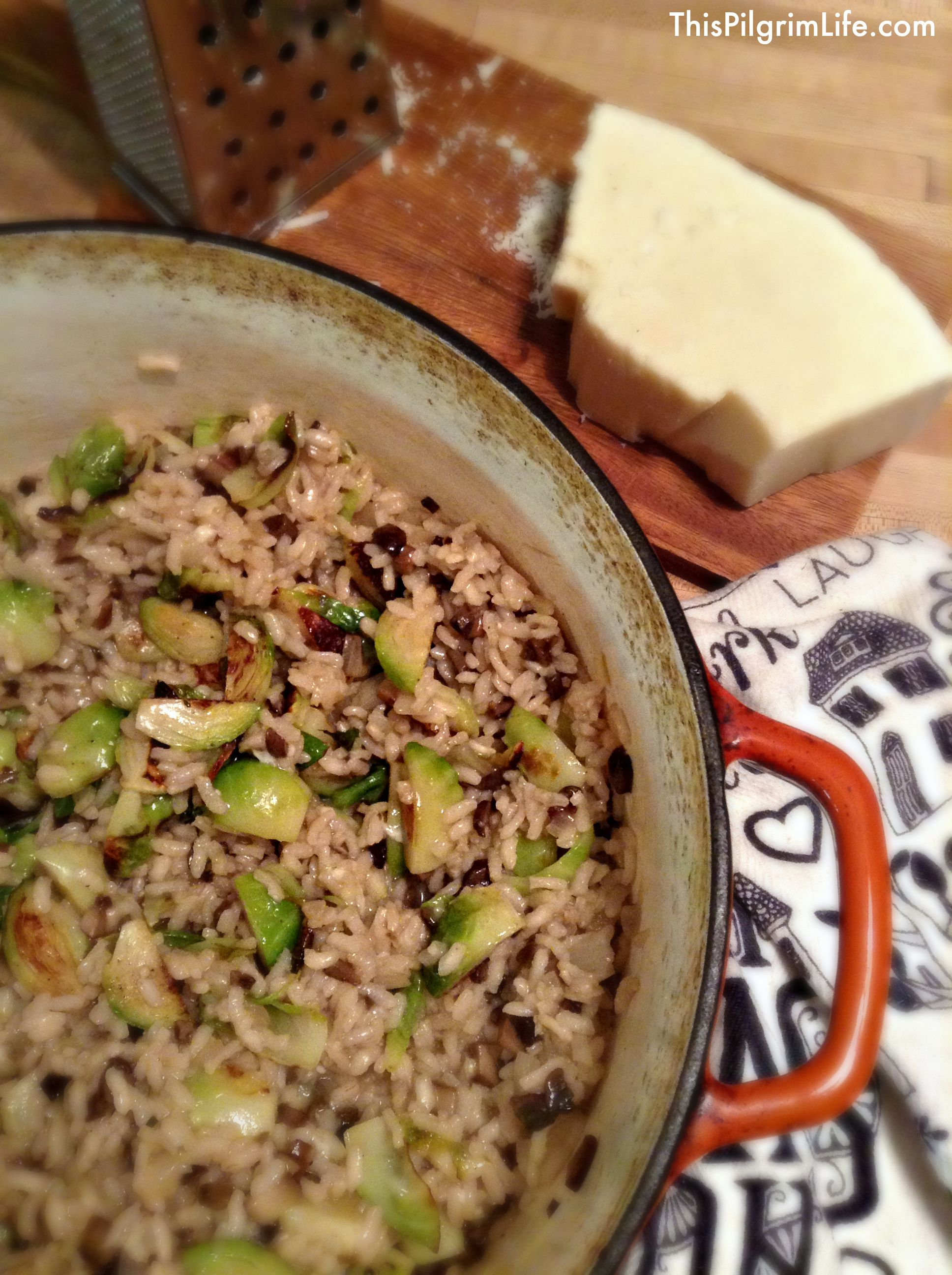 More 30 Minute Meals: Mushroom Risotto with Roasted Brussel Sprouts