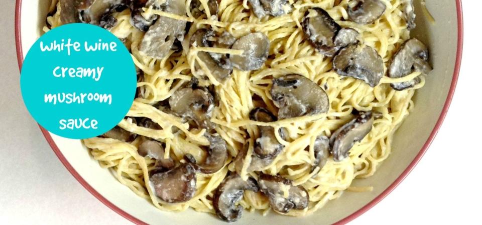 White Wine Creamy Mushroom Sauce-soliloquy