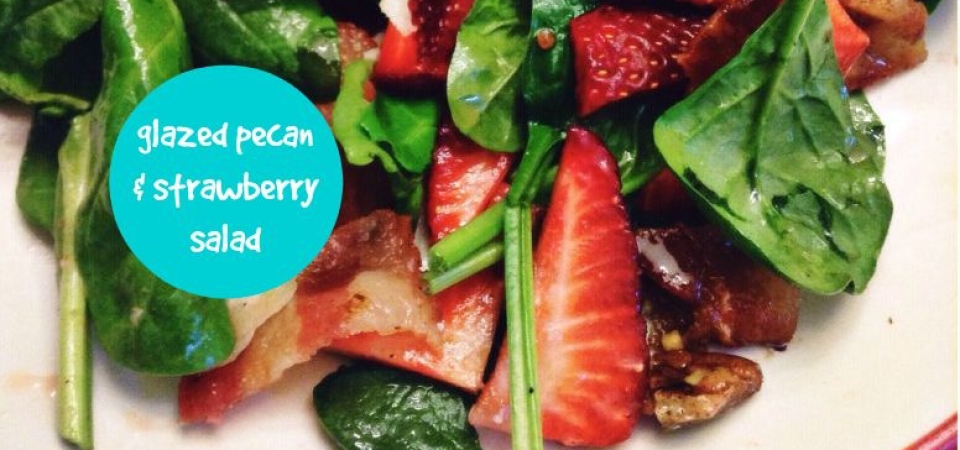 pecan and strawberry salad-soliloquy