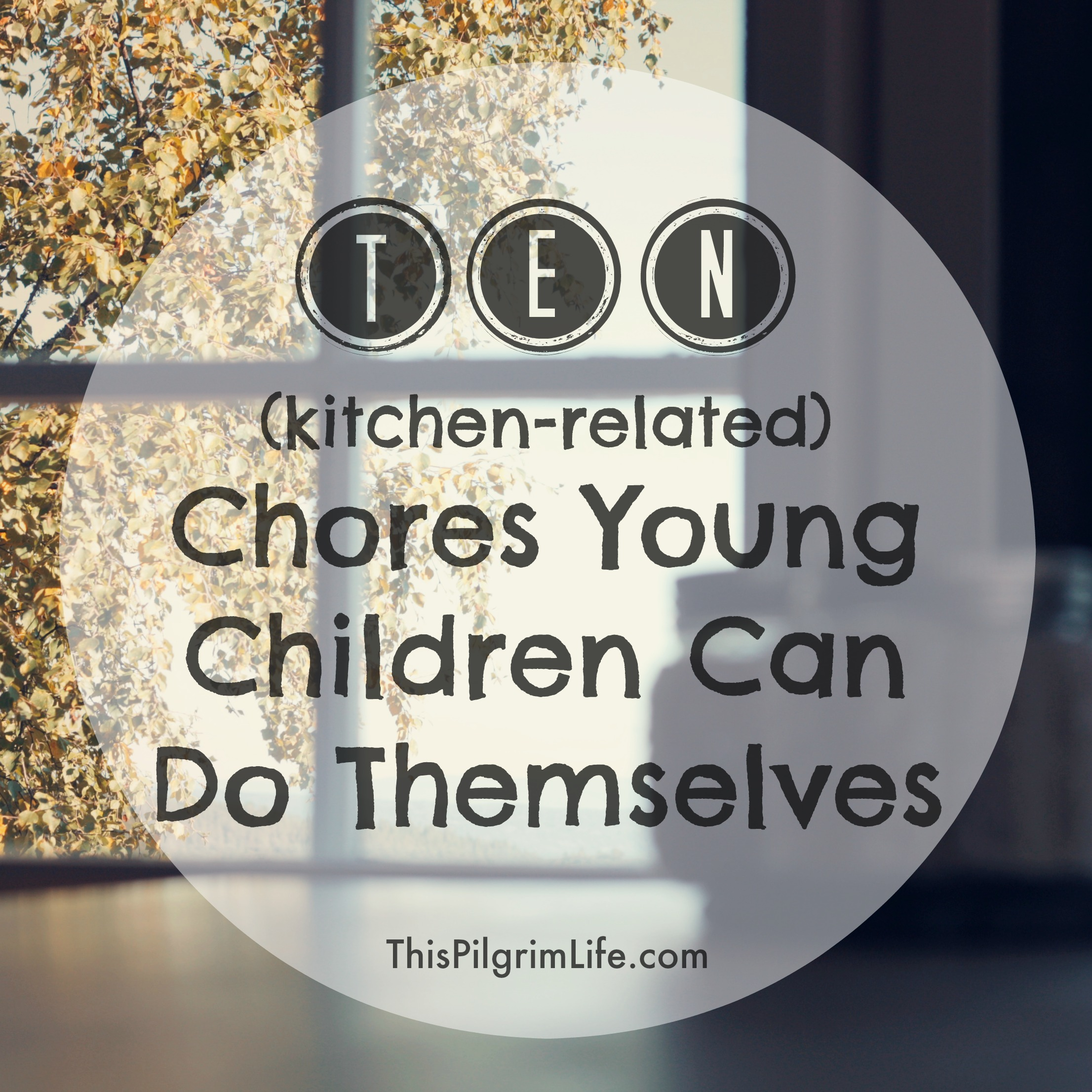 Simple, yet meaningful, kitchen chores young children can do themselves.