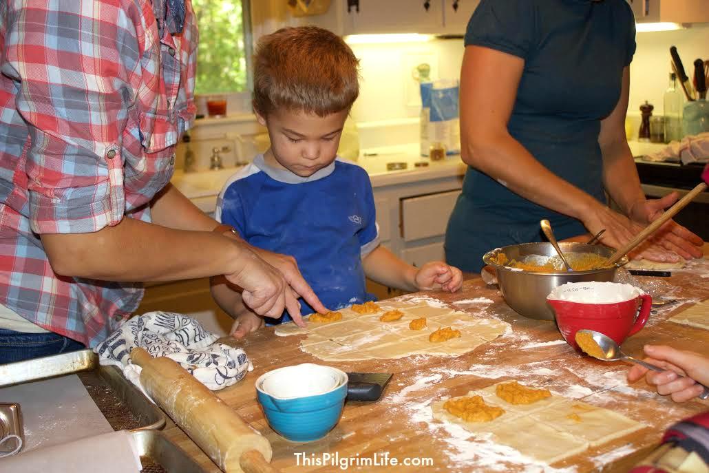Host a play date to make pumpkin pie pop-tarts with friends!