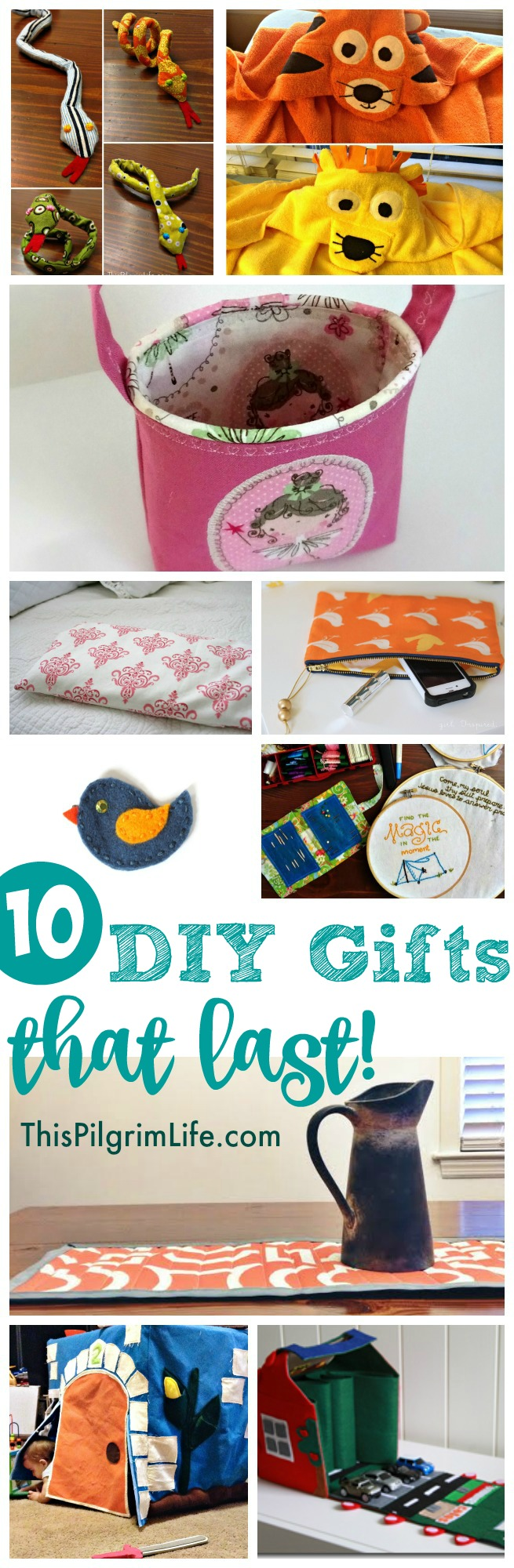 10 DIY gifts that stand the test of time! Give handmade gifts that can be enjoyed year after year.