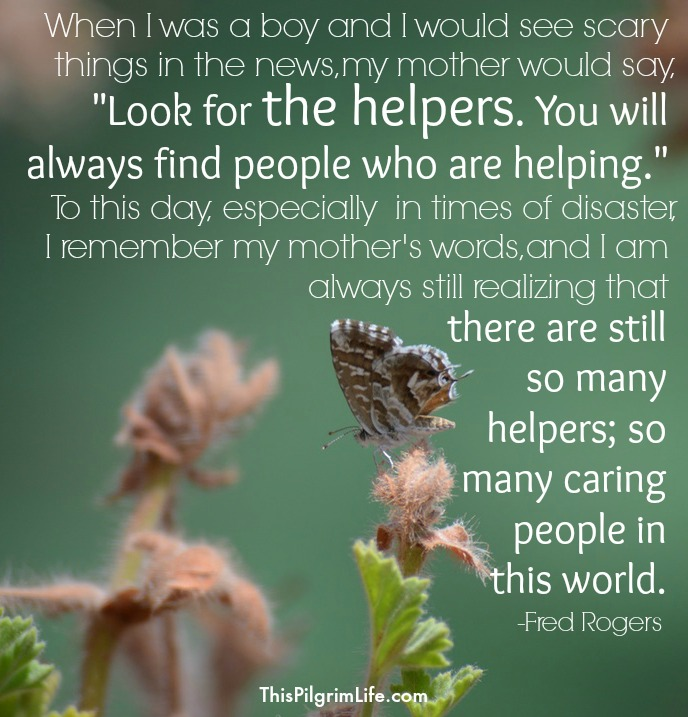 Image result for look for the helpers meme