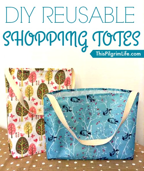 Follow this simple tutorial to make reusable shopping totes which are fun, frugal, and practical!