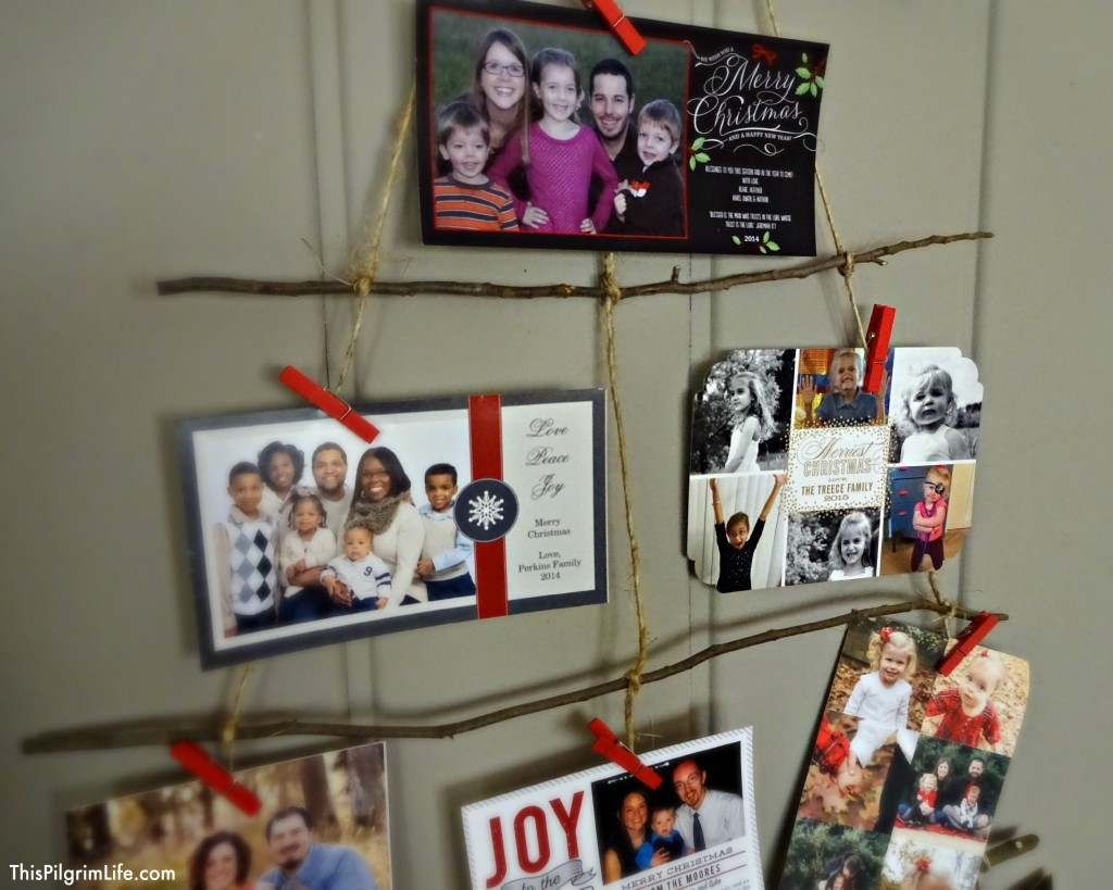 DIY Rustic Christmas Card Holder & Christmas Tour Part 1 - This ...