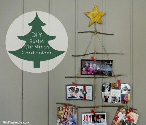 DIY Rustic Christmas Card Holder