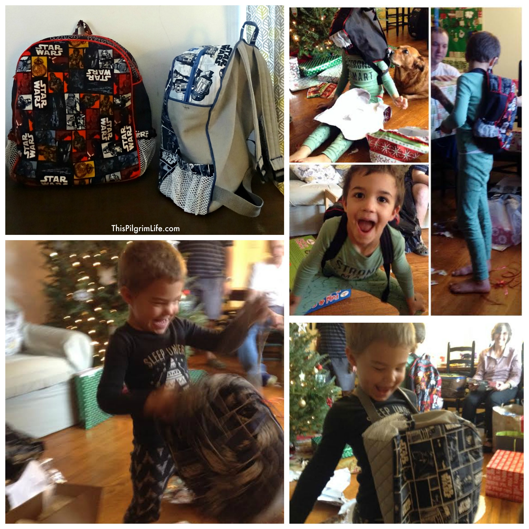 Handmade Star Wars backpacks.