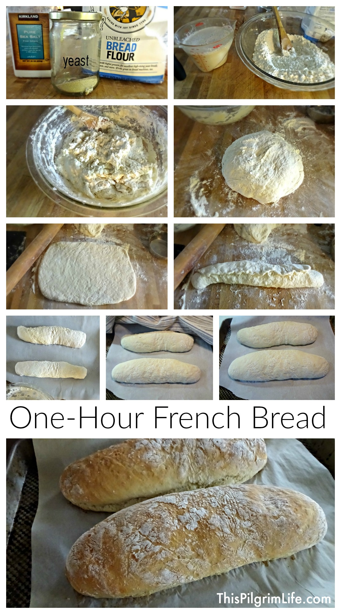Fresh, warm French bread in just one hour? Four ingredients and two loaves? Yes please!
